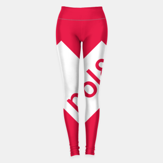 Thumbnail image of Love Poland Logo White Heart Legginsy, Live Heroes