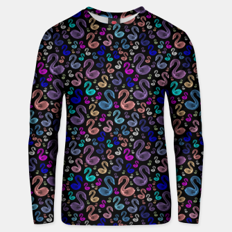 Thumbnail image of Enchanted Swans Unisex sweater, Live Heroes