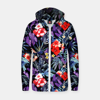 Thumbnail image of Tropical Trends Zip up hoodie, Live Heroes