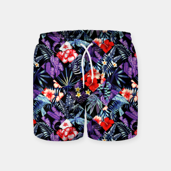 Thumbnail image of Tropical Trends Swim Shorts, Live Heroes