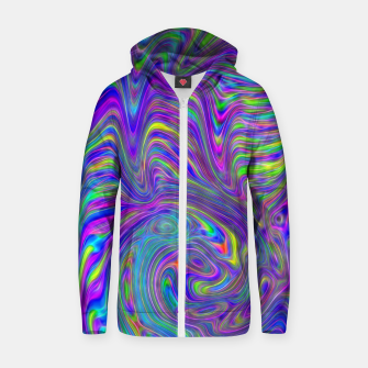 Thumbnail image of Abstract With Blue Zip up hoodie, Live Heroes