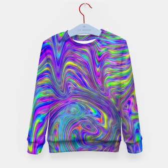 Abstract With Blue Kid's sweater thumbnail image