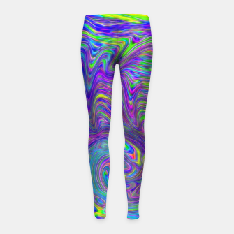 Thumbnail image of Abstract With Blue Girl's leggings, Live Heroes