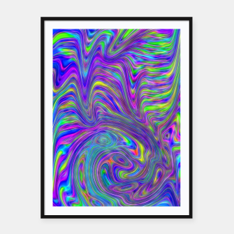 Thumbnail image of Abstract With Blue Framed poster, Live Heroes