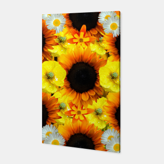 Thumbnail image of Sunflower collage Canvas, Live Heroes