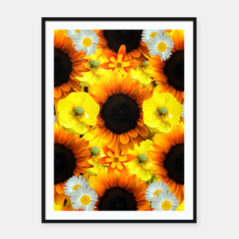 Thumbnail image of Sunflower collage Plakat mit rahmen, Live Heroes