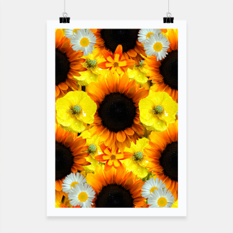 Thumbnail image of Sunflower collage Plakat, Live Heroes