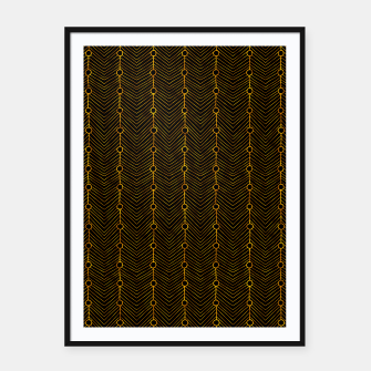 Thumbnail image of Simple Gold Pattern - 04 Framed poster, Live Heroes