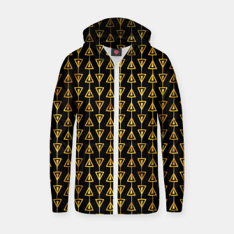Simple Gold Pattern - 05 Zip up hoodie Bild der Miniatur