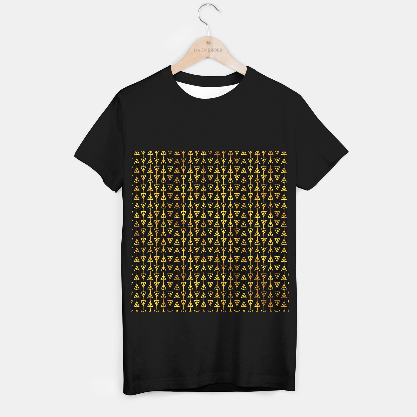 Foto Simple Gold Pattern - 05 T-shirt regular - Live Heroes