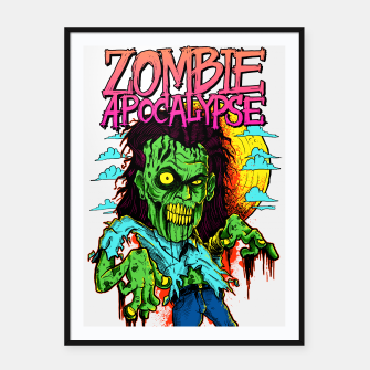 Thumbnail image of ZOMBIE APOCALYPSE I Framed poster, Live Heroes