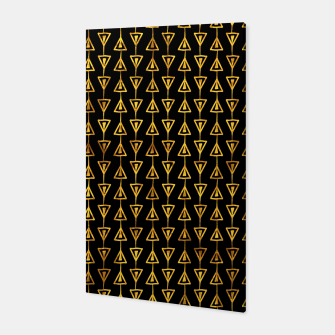 Simple Gold Pattern - 05 Canvas Bild der Miniatur