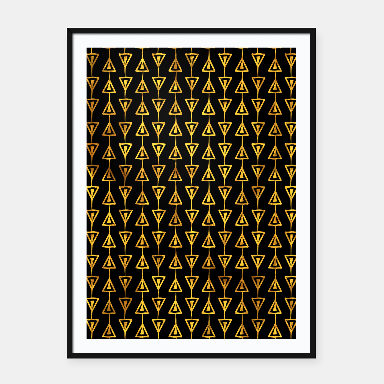 Image of Simple Gold Pattern - 05 Framed poster - Live Heroes
