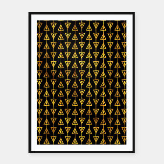Miniatur Simple Gold Pattern - 05 Framed poster, Live Heroes