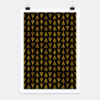 Miniatur Simple Gold Pattern - 05 Poster, Live Heroes
