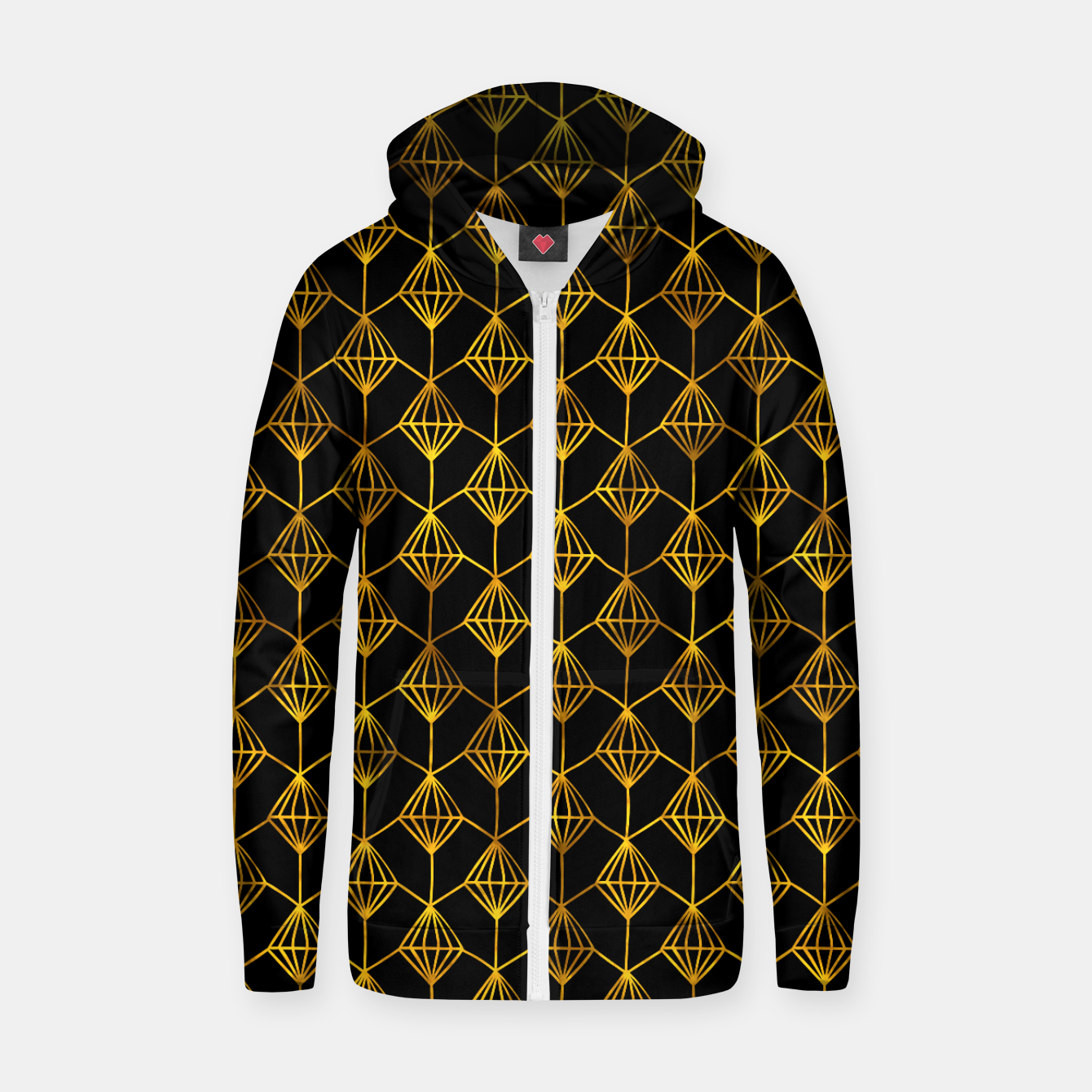Foto Simple Gold Pattern - 06 Zip up hoodie - Live Heroes