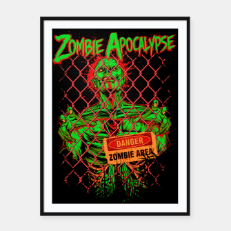 Thumbnail image of ZOMBIE APOCALYPSE II Framed poster, Live Heroes