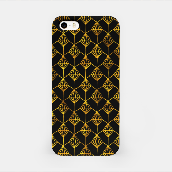 Simple Gold Pattern - 06 iPhone Case Bild der Miniatur