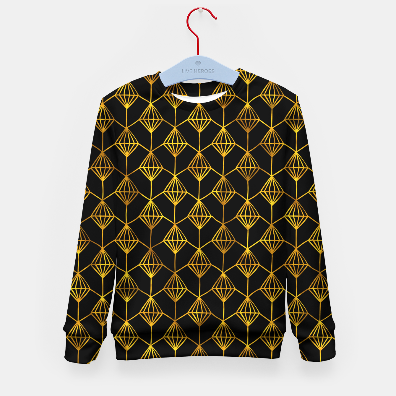 Foto Simple Gold Pattern - 06 Kid's sweater - Live Heroes