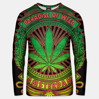 Thumbnail image of PARADISE OF WEED Unisex sweater, Live Heroes