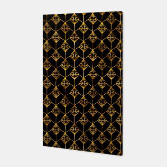 Simple Gold Pattern - 06 Canvas Bild der Miniatur