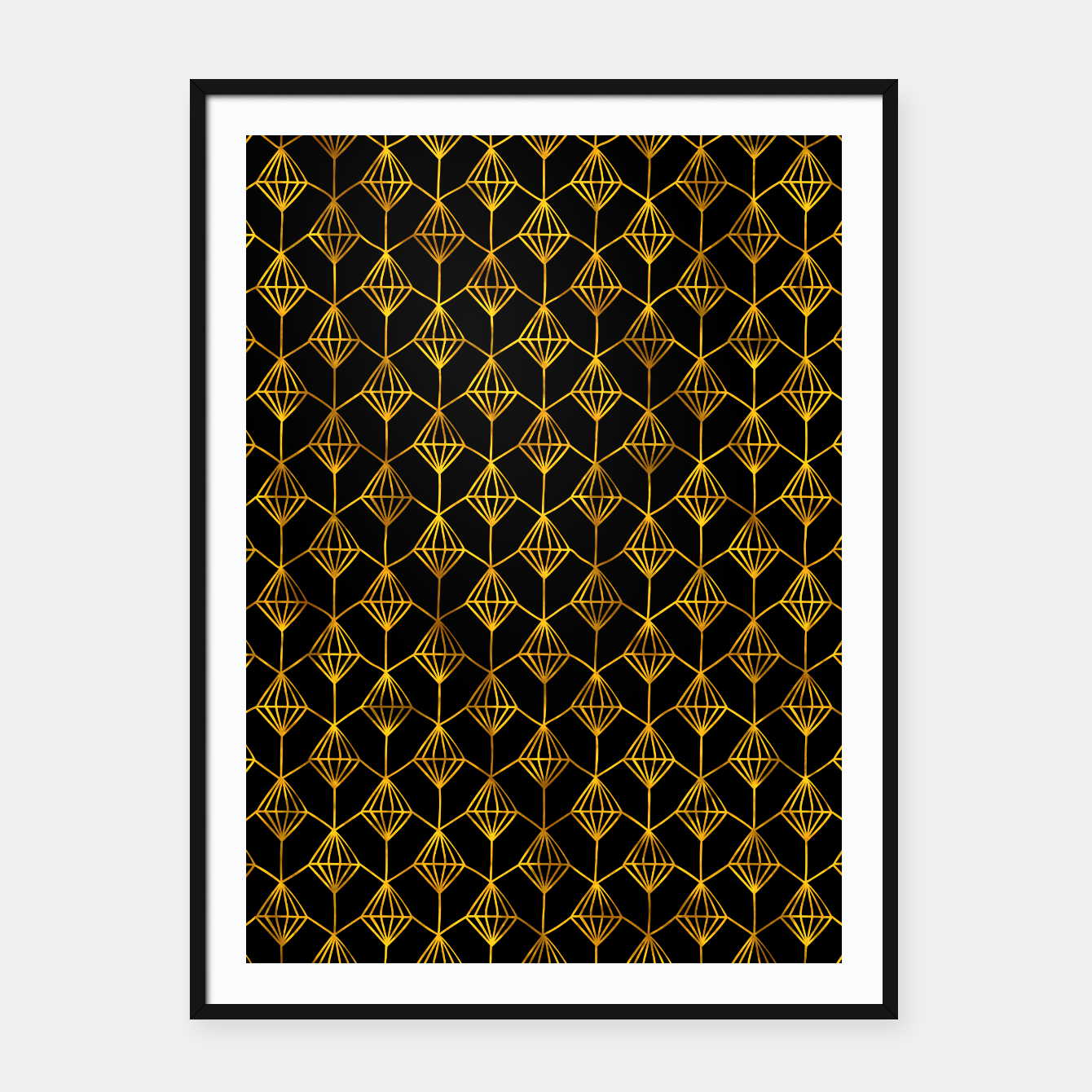 Foto Simple Gold Pattern - 06 Framed poster - Live Heroes