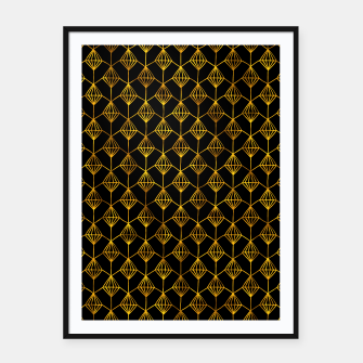 Miniatur Simple Gold Pattern - 06 Framed poster, Live Heroes