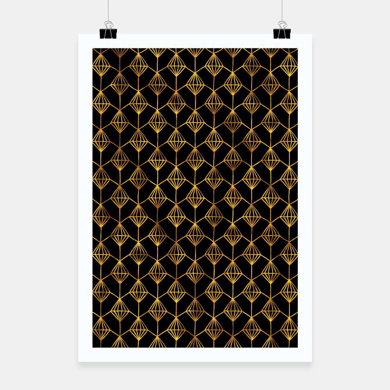 Foto Simple Gold Pattern - 06 Poster - Live Heroes