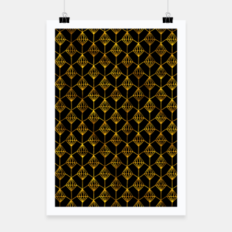 Miniatur Simple Gold Pattern - 06 Poster, Live Heroes