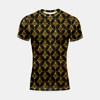 Miniatur Simple Gold Pattern - 06 Shortsleeve rashguard, Live Heroes