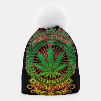 Thumbnail image of PARADISE OF WEED Beanie, Live Heroes