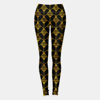 Simple Gold Pattern - 06 Leggings Bild der Miniatur