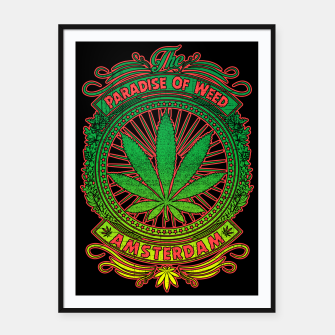 Thumbnail image of PARADISE OF WEED Framed poster, Live Heroes