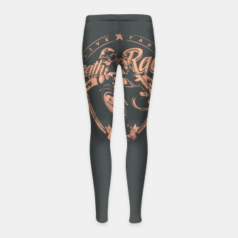 Thumbnail image of Death Race, Live Fast Girl's leggings, Live Heroes
