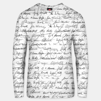 Thumbnail image of Literary Giants Pattern II Unisex sweater, Live Heroes