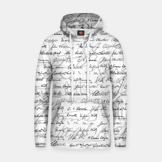 Thumbnail image of Literary Giants Pattern II Hoodie, Live Heroes