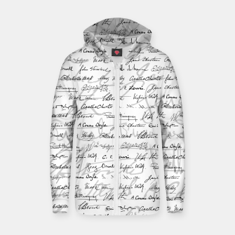 Thumbnail image of Literary Giants Pattern II Zip up hoodie, Live Heroes