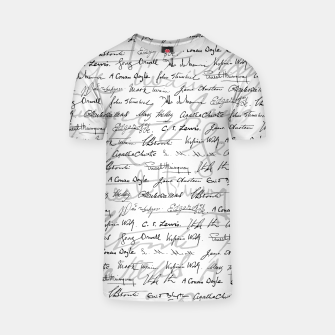 Thumbnail image of Literary Giants Pattern II T-shirt, Live Heroes