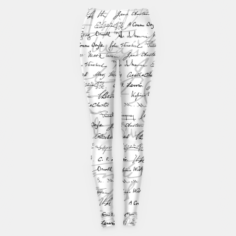 Thumbnail image of Literary Giants Pattern II Leggings, Live Heroes