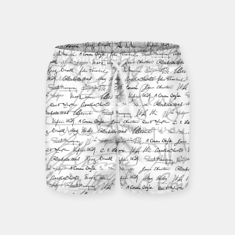 Literary Giants Pattern II Swim Shorts thumbnail image