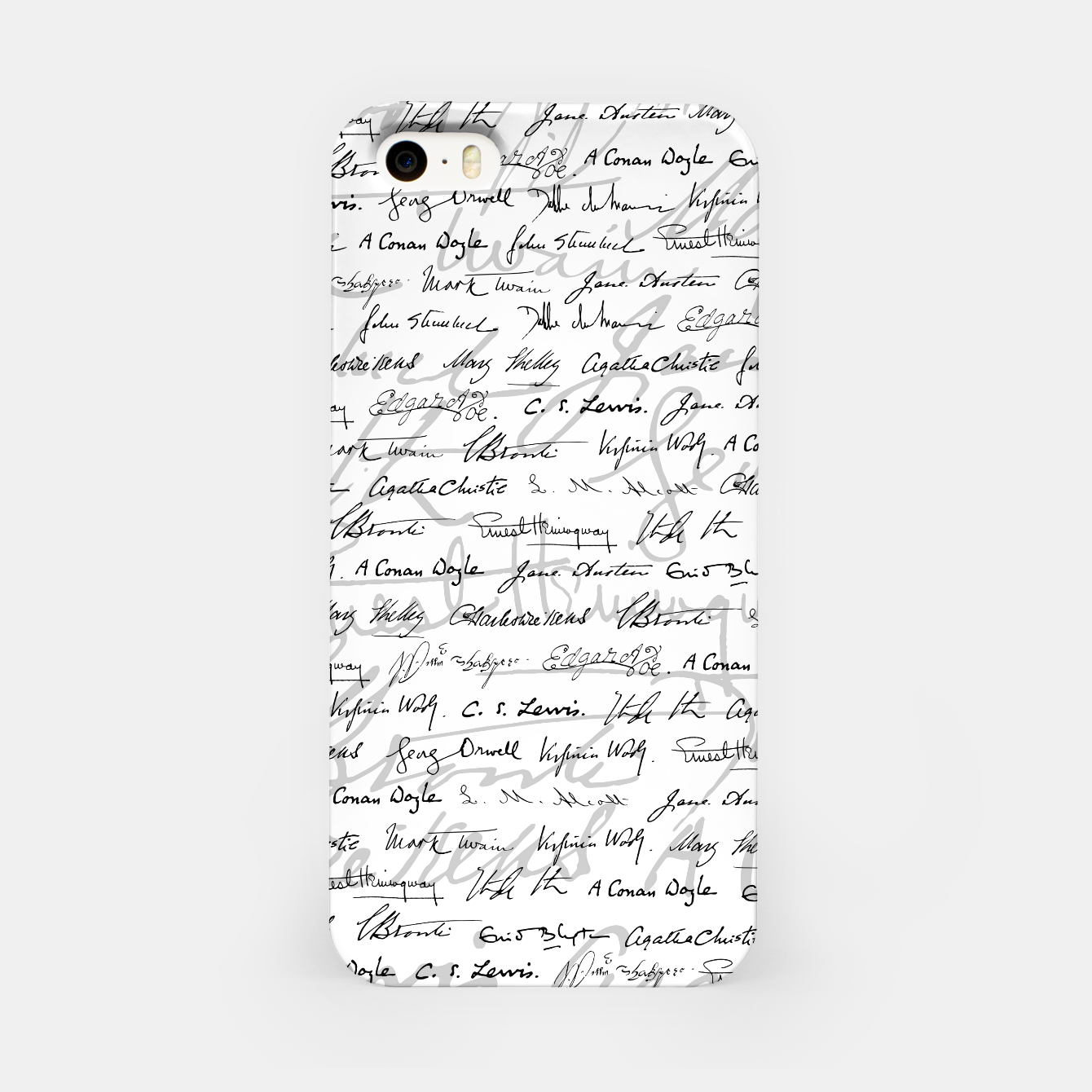 Image of Literary Giants Pattern II iPhone Case - Live Heroes