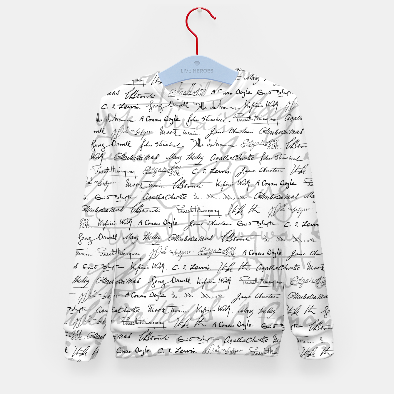 Image of Literary Giants Pattern II Kid's sweater - Live Heroes