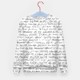 Thumbnail image of Literary Giants Pattern II Kid's sweater, Live Heroes