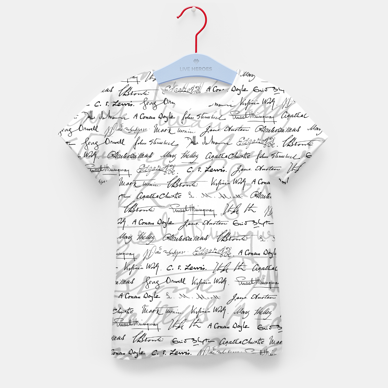Image of Literary Giants Pattern II Kid's t-shirt - Live Heroes