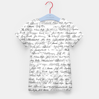 Thumbnail image of Literary Giants Pattern II Kid's t-shirt, Live Heroes