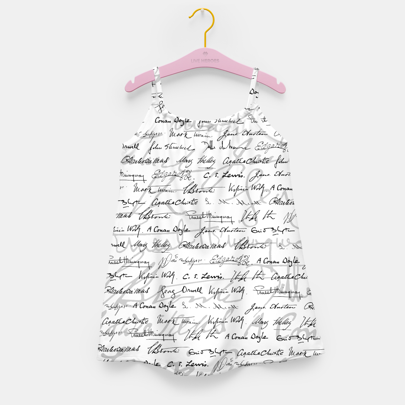 Image of Literary Giants Pattern II Girl's dress - Live Heroes