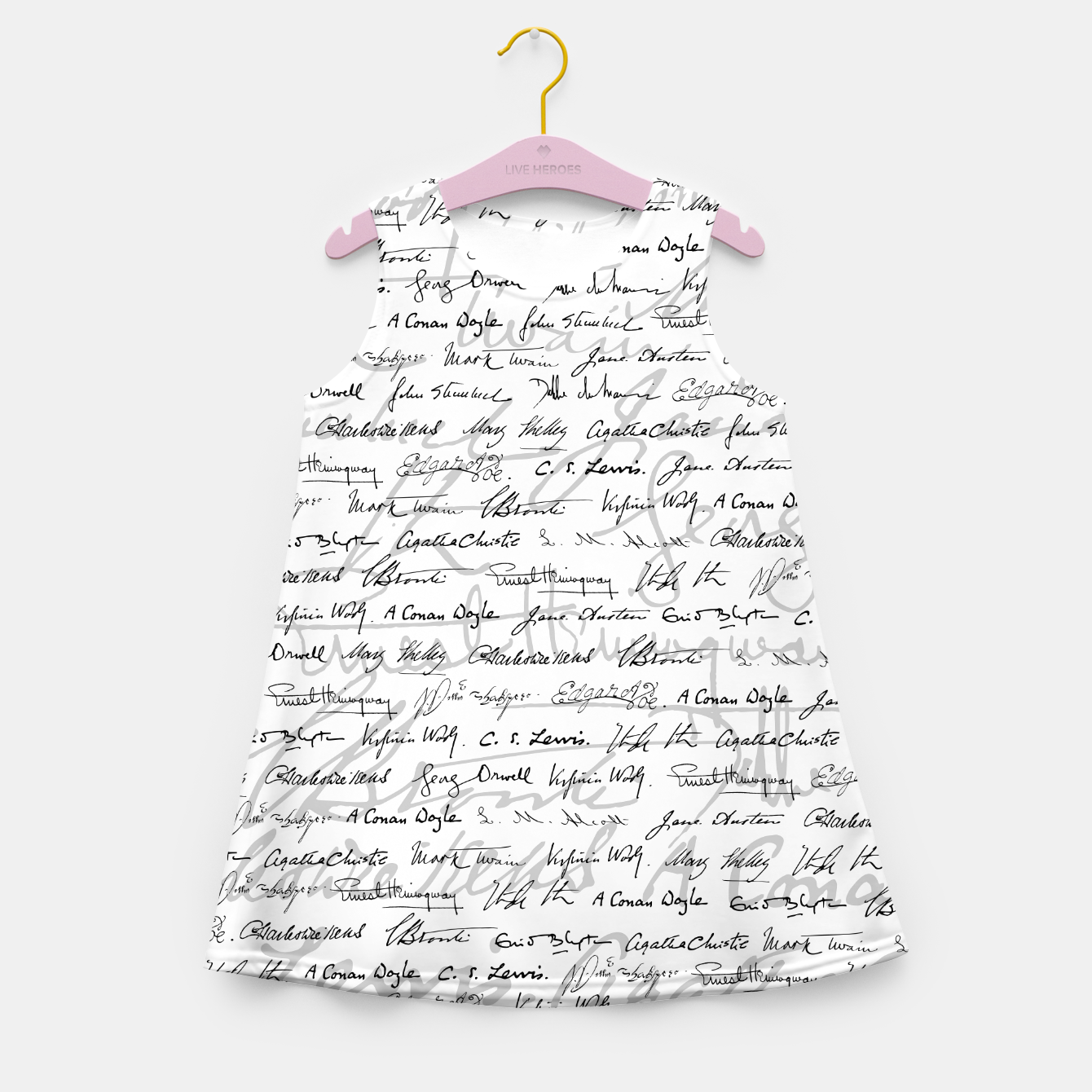 Image of Literary Giants Pattern II Girl's summer dress - Live Heroes