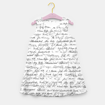 Literary Giants Pattern II Girl's summer dress thumbnail image