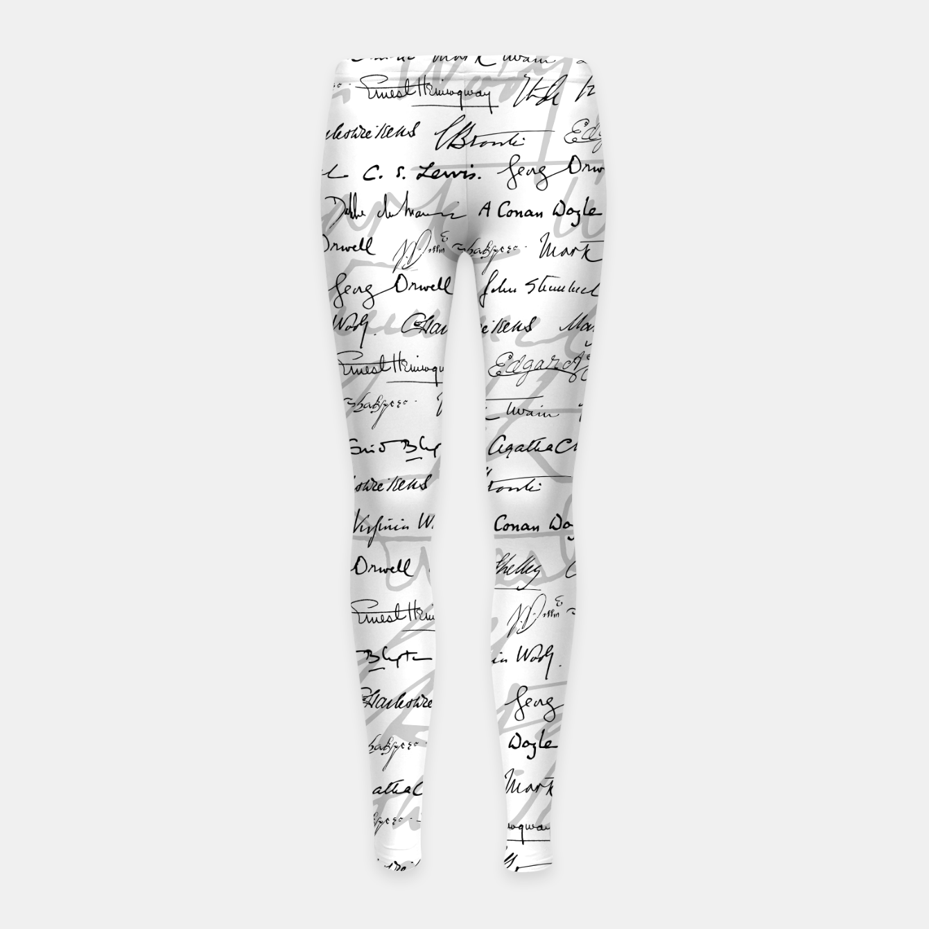 Image of Literary Giants Pattern II Girl's leggings - Live Heroes