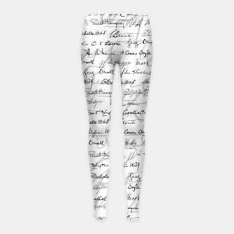 Thumbnail image of Literary Giants Pattern II Girl's leggings, Live Heroes